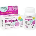 Florajen 4 Kids Probiotic Dietary Supplement, for Antibiotic Side Effects, 30 Capsules