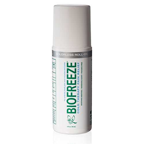 Biofreeze Pain Relief Gel for Arthritis, 3 oz. Roll-on Topical Analgesic, Fast Acting and Long Lasting Cooling Pain Reliever Cream for Muscle Pain, Joint Pain, Back Pain,Colorless Formula, 4% Menthol