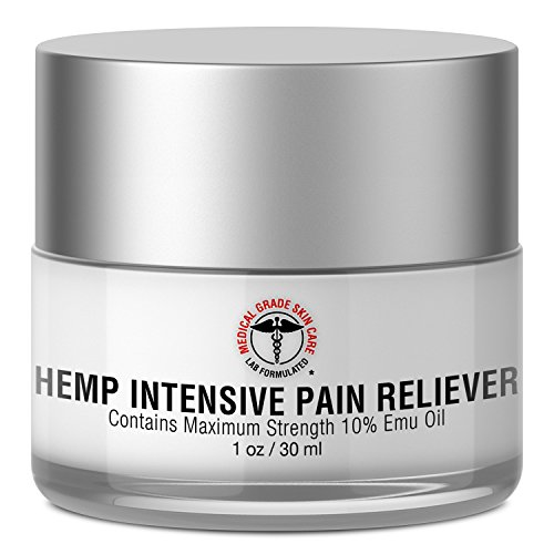 Medical Grade Skin Care Hemp Intensive Pain Reliever | Contains Maximum Strength 10% Emu Oil for Potent, Fast-Acting Pain Relief