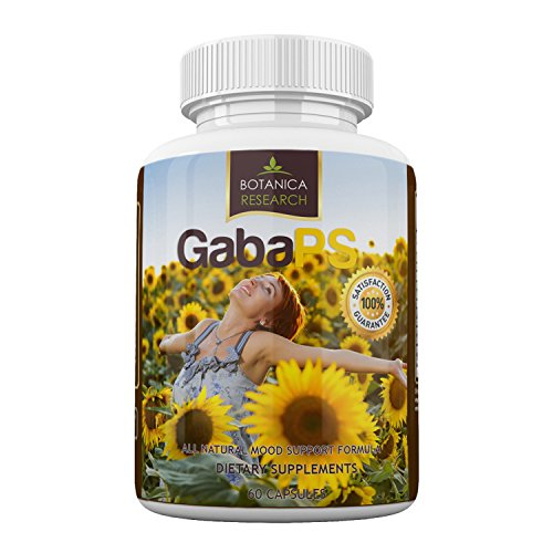Botanica GabaPS: with Gaba, Ashwagandha - Mood Support Formula For Anxiety,Stress Reliever and Panic Relief ::Mood Enhancer, Relaxation and Stress Reduction, Anti-Anxiety Pills Supplement 60 Capsules