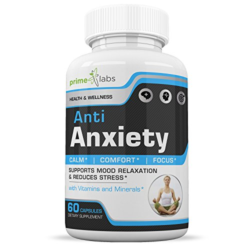 Anti Anxiety Stress Support Supplement to Increase Energy, Mental Focus, Memory & Cognitive Function, Reduce Stress by Increasing Serotonin Without Feeling Tired - 60 Capsules & Relax