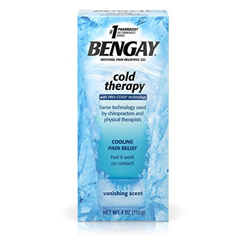Bengay Cold Therapy Pain Relief Gel with Pro-Cool Technology, Cooling Pain Reliever for Muscle and Joint Pain, 4 oz