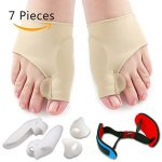 Bunion Corrector & Bunion Relief Protector Sleeves Kit – Treat Pain in Hallux Valgus, Big Toe Joint, Hammer Toe, Toe Separators Spacers Straighteners splint Aid surgery treatment