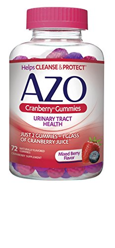 AZO Cranberry Gummies Urinary Tract Health, Dietary Supplement 72 CT, Helps cleanse and protect (Packaging may vary)