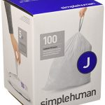 simplehuman Code J Custom Fit Liners, Tall Kitchen Drawstring Trash Bags, 30-45 Liter / 8-12 Gallon, 100-Count Box