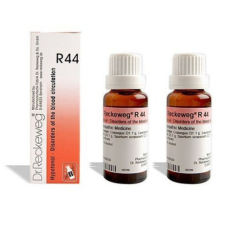 2 LOT X Dr. Reckeweg - Homeopathic Medicine - R44 Disorders of the Blood Circulation