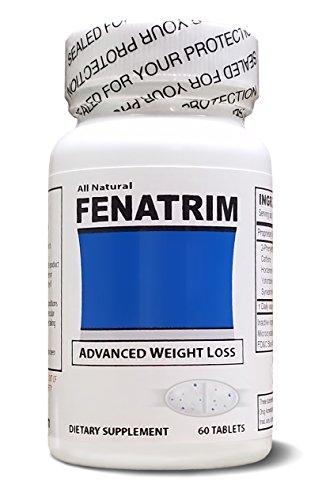 FENATRIM Weight Loss Diet Pills (One Bottle | 60 Oval Tablets)- Appetite Suppressant & Fat Burner | Energy
