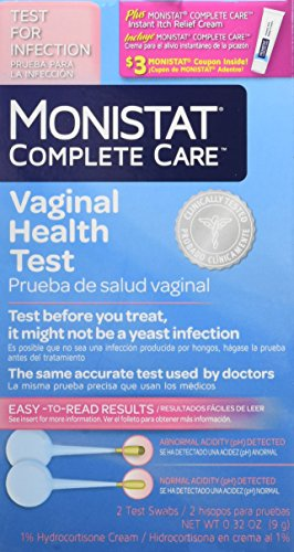 Monistat Complete Care Vaginal Health Test, 2 Test Swabs Included-1 Box