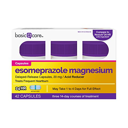 Basic Care Esomeprazole Magnesium Delayed-Release Capsules, 20 mg, 42 Count