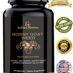 HORNY GOAT WEED WITH MACA ROOT for Men & Women, Sexual Performance, 100% Natural Libido, Energy, Testosterone, Stamina Boost, Supports Vitality, 1000mg Epimedium, Icariins, Saw Palmetto, Muira Puama