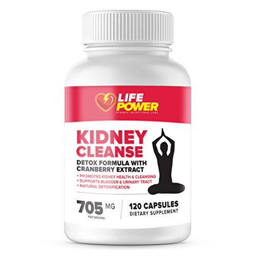 Life Power Labs-Natural Kidney Cleanse Supplement - Detox and Support Formula with Cranberry Extract - Promotes Kidney Health, Cleansing, Support Bladder and Urinary Tract. 120 Vegetarian Capsules