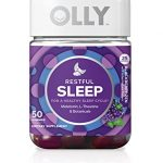 OLLY Restful Sleep Gummy Supplement, with MELATONIN & L-Theanine, Chamomile; supports a healthy sleep cycle*; Blackbery Zen; 50 count, 25 day supply (packaging may vary).