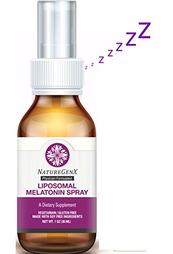NatureGenx -Liposomal Natural Melatonin 3mg Spray 1oz - Natural Sleep Aid | Insomnia Relief & Sleep Problems | Support Normal Sleep, Mood, Immune & Antioxidant | Physician Formulated|