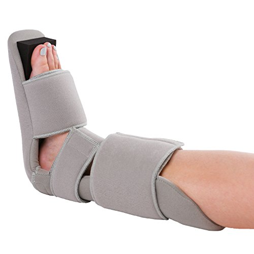 BraceAbility Padded 90 Degree Plantar Fasciitis Boot | Soft Dorsiwedge Night Splint to Stabilize Foot and Ankle, Stretches Plantar Fascia Ligament and Supports Achilles Tendon (Small)
