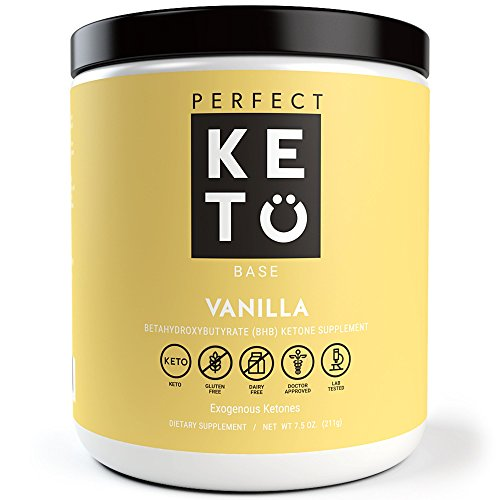 Perfect Keto Exogenous Ketones Supplement- Base BHB Salts Keto Vanilla Flavor- Ketones for Ketogenic Diet Best to Burn Fat to Support Energy, Focus and Ketosis Beta-Hydroxybutyrate BHB Salt