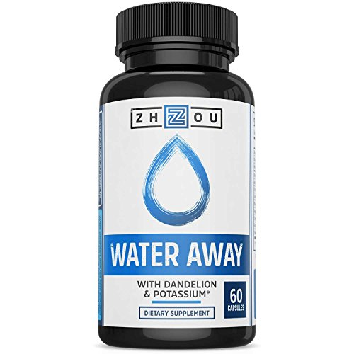 WATER AWAY Herbal Formula for Healthy Fluid Balance - Premium Herbal Blend with Dandelion, Potassium, Green Tea & More - 60 capsules