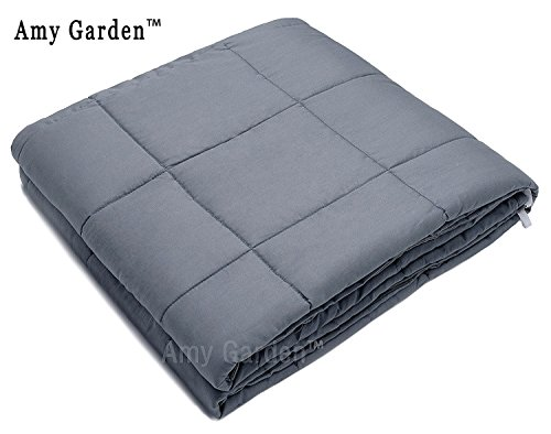 Weighted Blanket for Anxiety, ADHD, Autism, OCD - Premium Weighted Blanket for Sensory Processing Disorder By Amy Garden (48