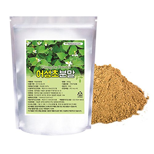 [Jeongwoodang]Houttuynia Cordata (Eoseongcho) Powder 10.6oz/Reliving any skin disease/Hair Loss/Metabolism/super food/어성초/鱼腥草