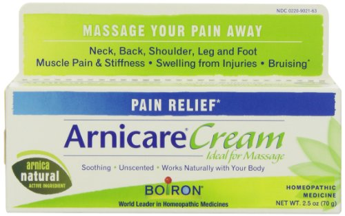 Boiron Arnica Cream for Pain Relief, 2.5 Ounces. Topical Analgesic for Neck Pain, Back Pain, Shoulder Pain, Leg and Foot Pain, Muscle Pain, Joint Pain Relief and Arthritis. Natural Active Ingredient