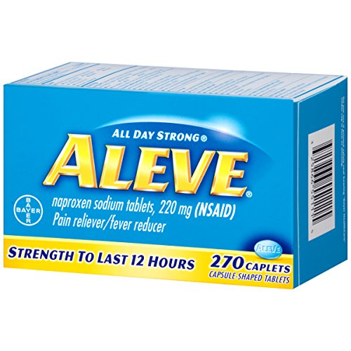 Aleve Caplets with Naproxen Sodium, 220mg (NSAID) Pain Reliever/Fever Reducer, 270 Count