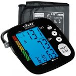 Blood Pressure Monitor by Vive Precision – Automatic Digital Upper Arm Cuff – Accurate, Portable and Perfect for Home Use – Electronic Meter Measures Pulse Rate – 1 Size Fits Most Cuff, Black