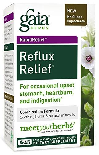 Gaia Herbs Rapidrelief Reflux Relief Tablets, 45 Count Bottle