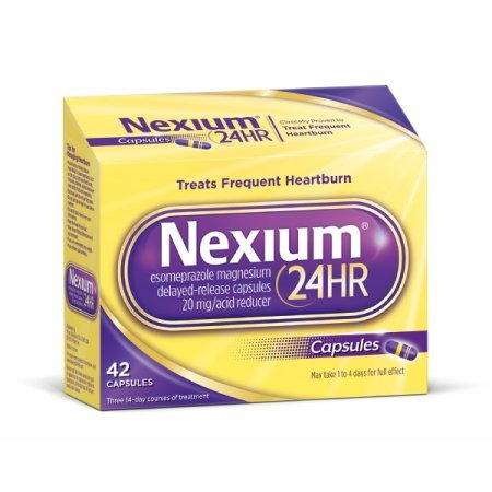 Nexium 24HR Capsules 42 ea (Pack of 2)