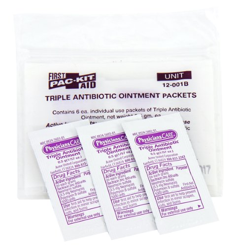 Pac-Kit by First Aid Only 12-001 Triple Antibiotic Ointment Packet (Box of 12)