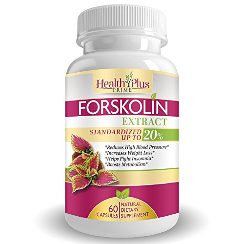 Forskolin Extract, Natural Weight Loss Supplement, 100% Pure and Powerful Fat Burner and Appetite Suppressant, Boost Metabolism, Best Diet Pills for Women and Men, USA Made