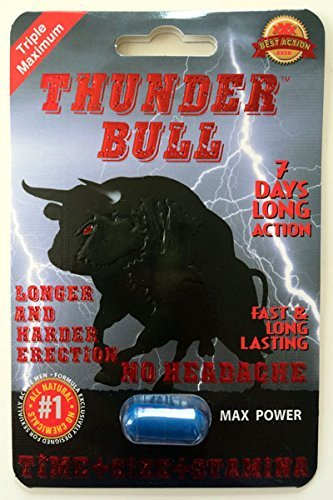 Thunder Bull Triple Maximum Male Enhancement Sexual Pill! Long Lasting!-12 Pills! by Red Lips 2