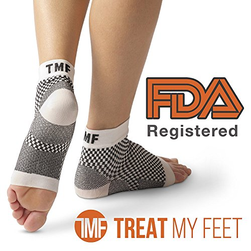 Planter Fasciitis Compression Socks - Relieve Morning Foot Pain, Swelling & Edema - Improves Circulation, Achilles Heel Spurs & Plantar Fascitis Ankle Sock Orthopedic By Treat My Feet FDA XXL