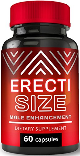 ErectiSize - Ultimate Male Enhancement Pills | Erection Pills for Size | Boosts Performance Guaranteed | Muira Puama, Tribulus, Maca Root | Testosterone Enhancer