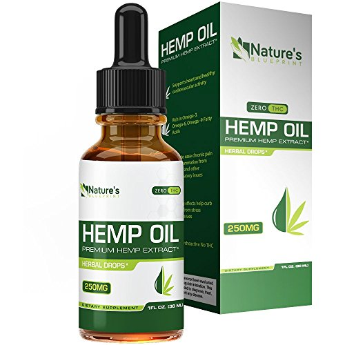 Hemp Oil for Pain Relief :: Stress Support, Anti Anxiety Supplements:: Herbal Drops :: Rich in Omega 3 and Omega 6 Fatty Acids :: Natural Anti Inflammatory :: 1 Fl Oz. (30ml)