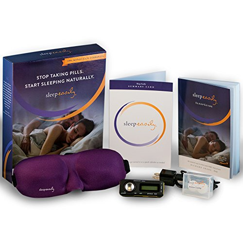 Sleep Easily Insomnia Treatment - Sleep Recordings on a Mini Audio Player, Eye Mask and Ear Plugs - A Natural Sleep Aid for Insomnia Relief