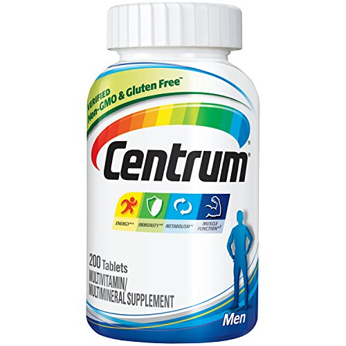 Centrum Men  (200 Count) Multivitamin / Multimineral Supplement Tablet, Vitamin D3
