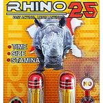 Rhino 25 Double Platinum 25000 – Male Sexual Enhancement Supplement – Time Size Stamina – 6 Pills