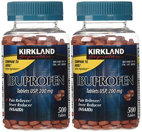 Kirkland Signature USP Ibuprofen, 2 Bottles 200 mg of 500 Tablets Each