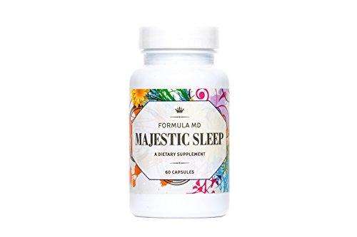 Majestic Sleep - Physician Formulated Natural Sleep Aid With Melatonin, Glycene, L-Theanine & GABA. Sleep Well - Wake Refreshed. Non Habit Forming Sleep Supplement. 60 Capsules
