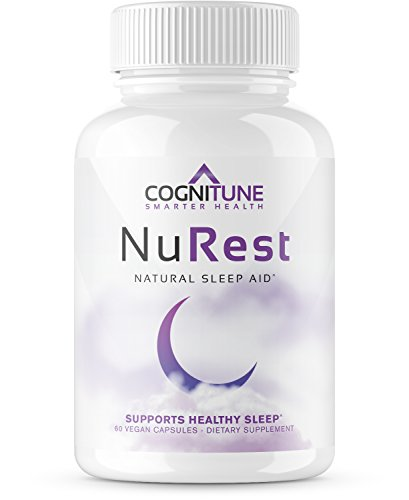 NuRest - Premium Natural Sleep Aid Supplement - #1 Non Habit Forming Sleeping Pills for PM Insomnia Relief - Herbal Nighttime Formula with Melatonin, Valerian Root, Lemon Balm, Chamomile, GABA