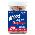 Mack's Ultra Soft Foam Earplugs, 50 Pair – 32dB Highest NRR, Comfortable Ear Plugs for Sleeping, Snoring, Work, Travel and Loud Events