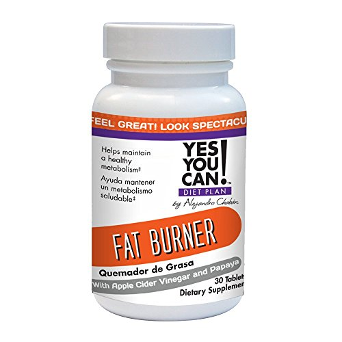 YES YOU CAN DIET PLAN - Fat Burner Weight Loss Supplement with Apple Cider Vinegar, Quemador de Grasa, 30 Tablets
