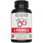 D Mannose with Cranberry Concentrate Urinary Tract Formula – Triple Action Complex with Clinically Tested Cranberry XBAC™ Powder for Bacterial Antiadherance & Flushing Impurities – 60 Veggie Capsules