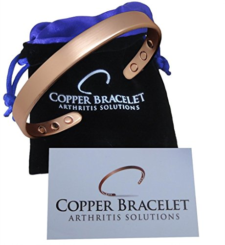 Copper Bracelet for Arthritis - GUARANTEED 99.9% PURE Copper Magnetic Bracelet For Men & Women With 6 Powerful Magnets For Effective & Natural Relief Of Joint Pain, Arthritis, RSI, & Carpal Tunnel!