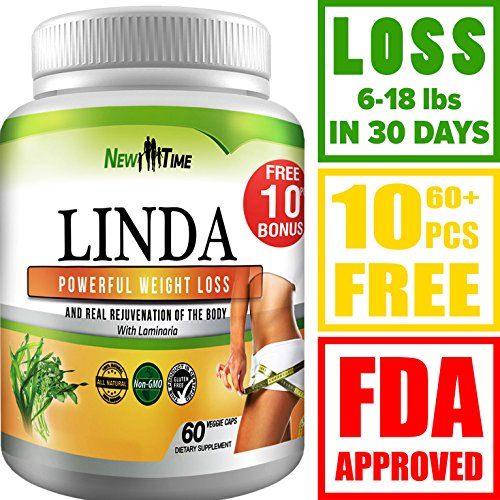 LINDA - Weight Loss Pills for Women & Men - Herbal Diet Supplements - Natural Fat Burner and Appetite Suppressant that work fast - Best diet pills +10 pcs