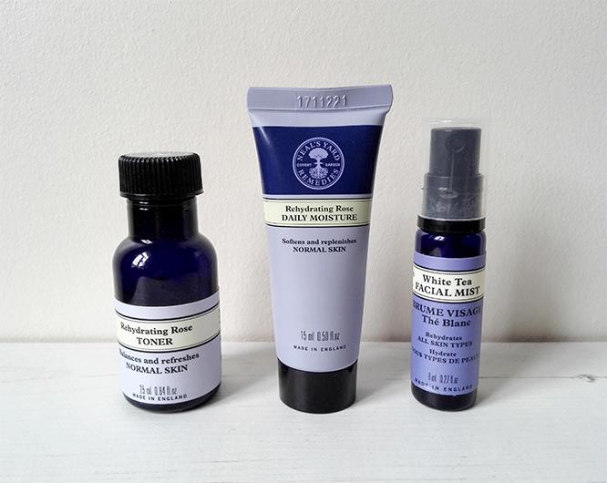 neal's yard remedies minis: Rehydrating Rose Daily Moisture,Rehydrating Rose Toner & White Tea Facial Mist