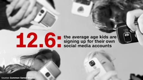 What's the average age when kids get a social media account?