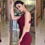 Smokin' Hot! Mouni Roy Commands Attention in Oxblood Gown With Daring Thigh-High Slit and Deep Cleavage on Her Italian Trip