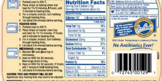 The labeling error could adversely affect those with milk allergies. (USDA)