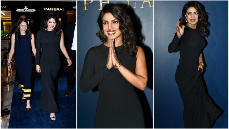 Priyanka Chopra Looks Gorgeous In A Black Gown At Ralph Lauren Store Launch In Delhi - See Pics!