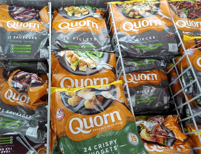 quorn sausages, fillets and pieces